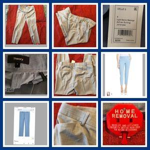Theory Light Blue Cropped Pants 8 NWT